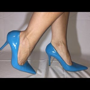 Teal High Heel Shoes by Paprika